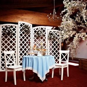 Ширма (фон) деревянная белая (стиль прованс, класический)