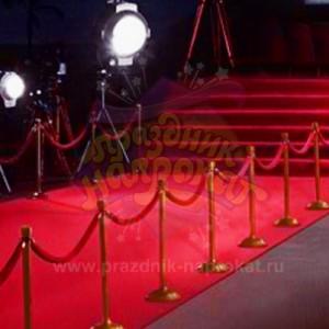 Красная ковровая дорожка профессиональная 20 метров